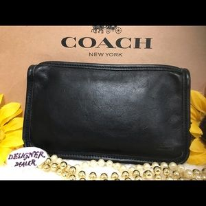 COACH Vintage Chunky Cosmetic Case Black VGC!
